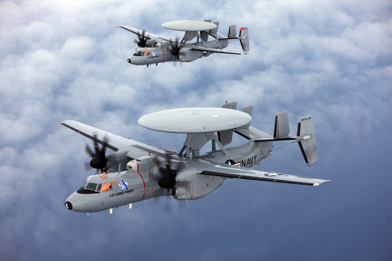 E-2D Advanced Hawkeye, one of the launch platforms for EGI-M. (Northrop Grumman)