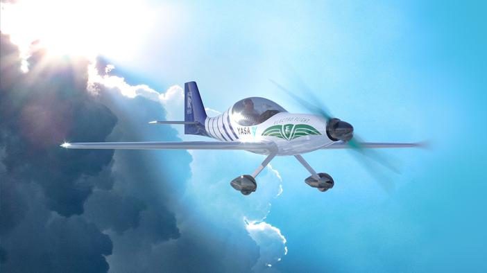 A rendering of Rolls-Royce's electrified seaplane in the ACCEL initiative. (Rolls-Royce)