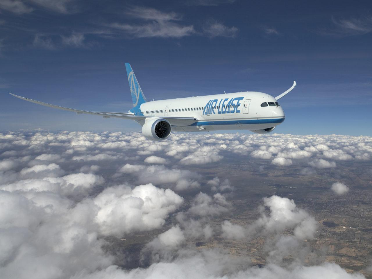 A Boeing 787 Dreamliner in Air Lease Corporation Regalia. (Boeing)