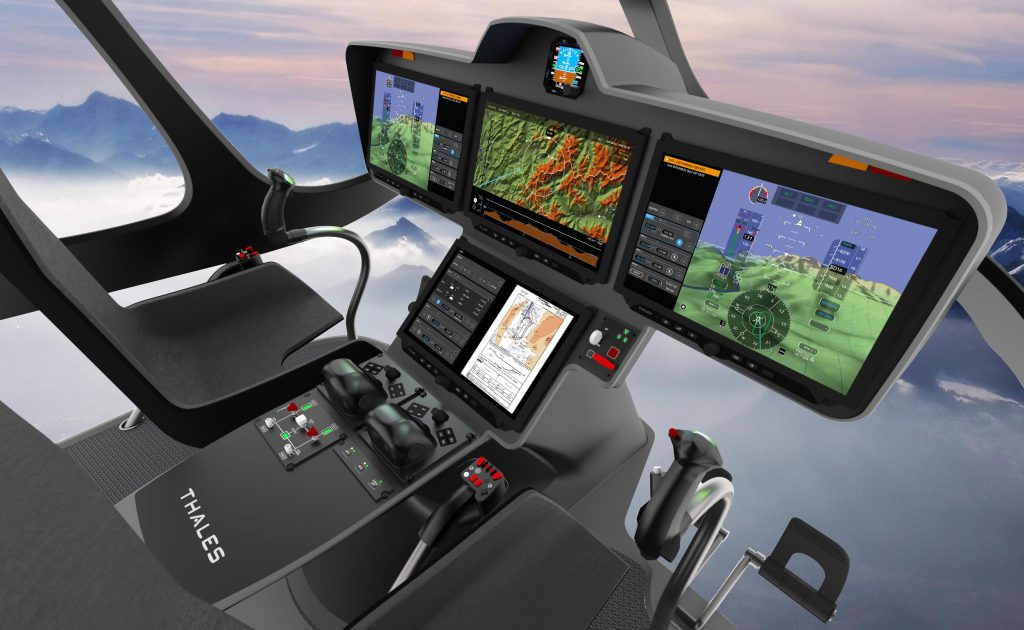 Thales' FlytX avionics suite for rotorcraft. (Thales)