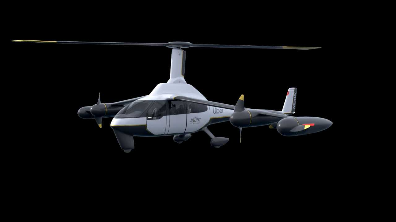 Concept imagery of Jaunt Air Mobility's UAM vehicle. (Jaunt)