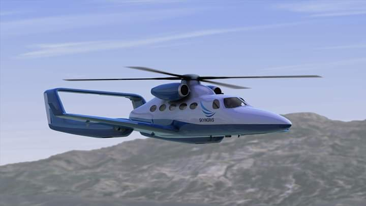 A rendering of the VertiJet. (Skyworks)