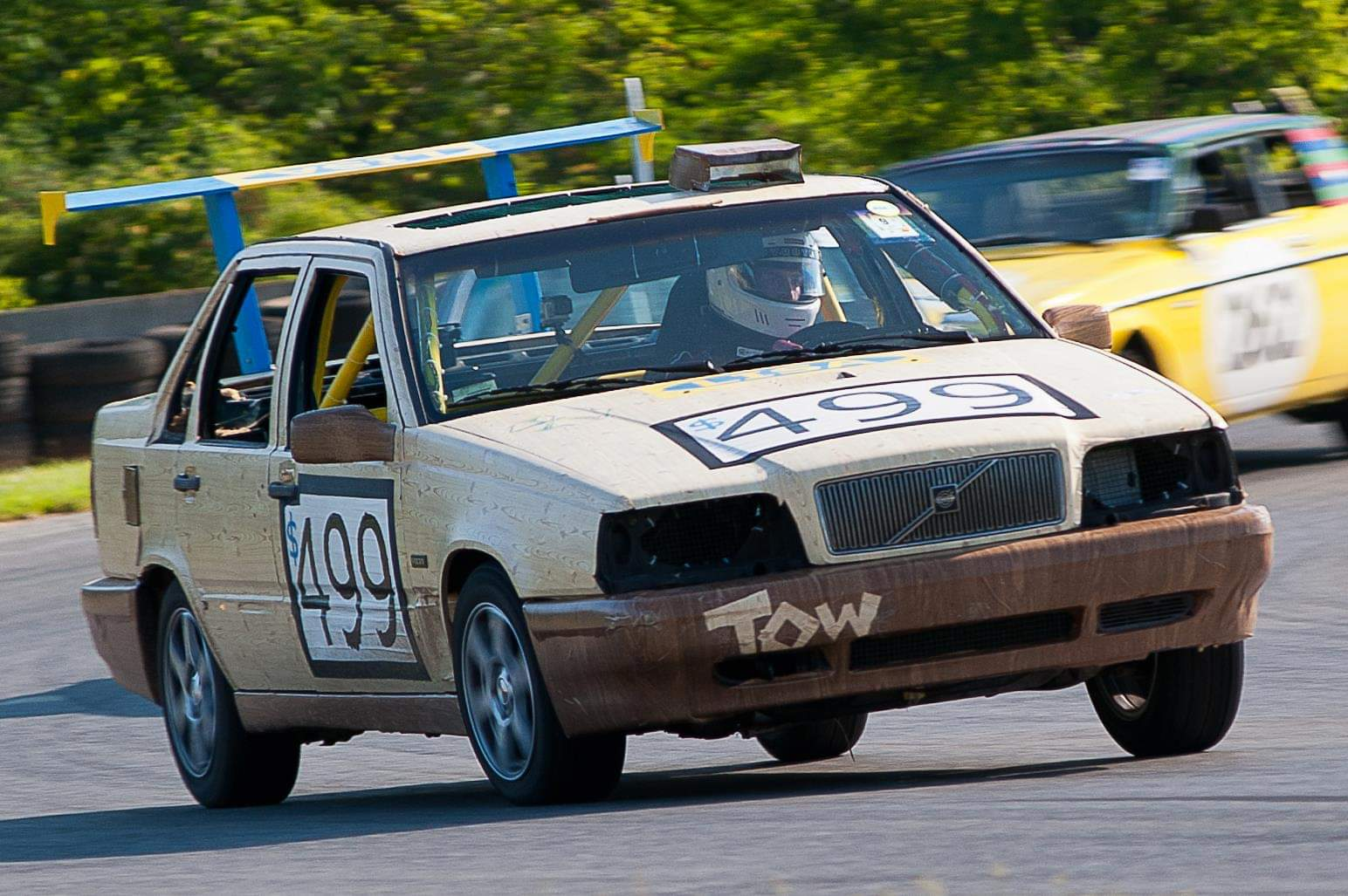 "Zach Currier driving his team's rebuilt Volkswagon in the ""24 Hours of LeMon"" race. (Zach Currier)"