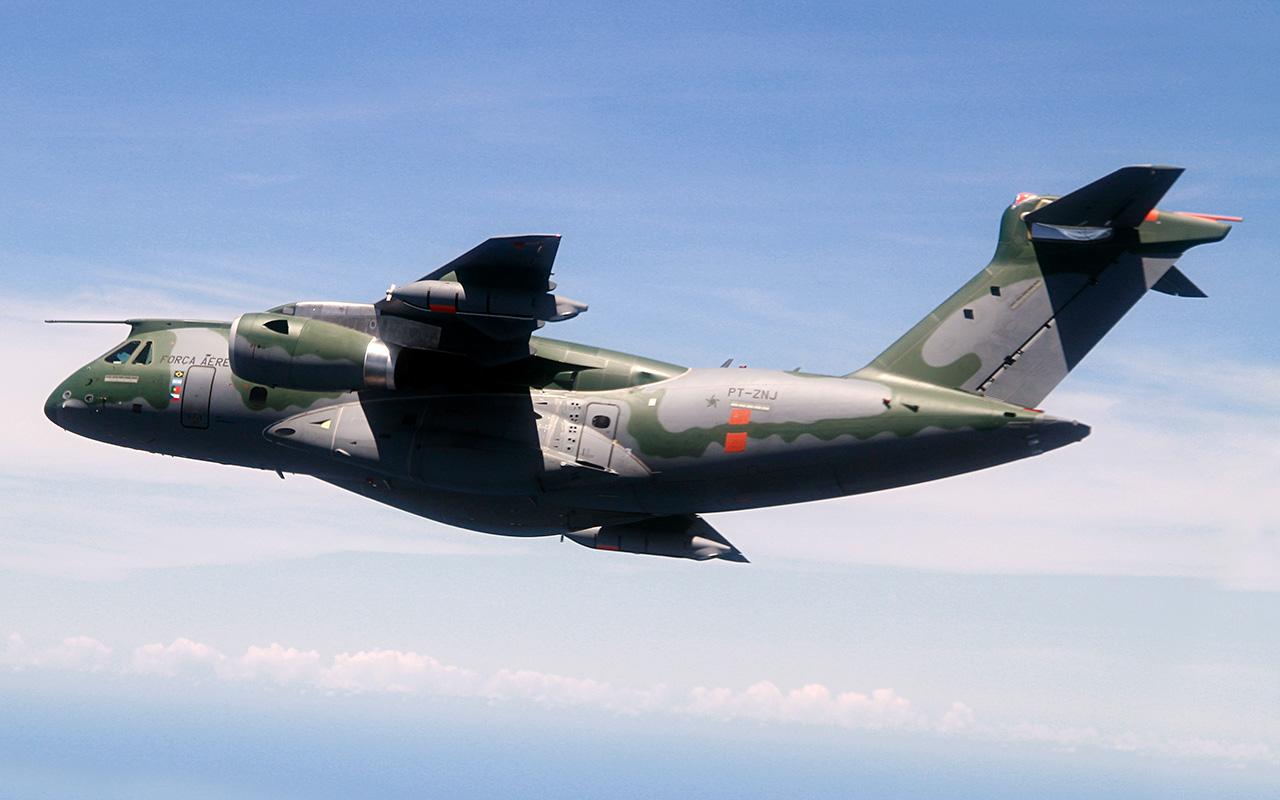 The Embraer KC-390 in flight. (Embraer)