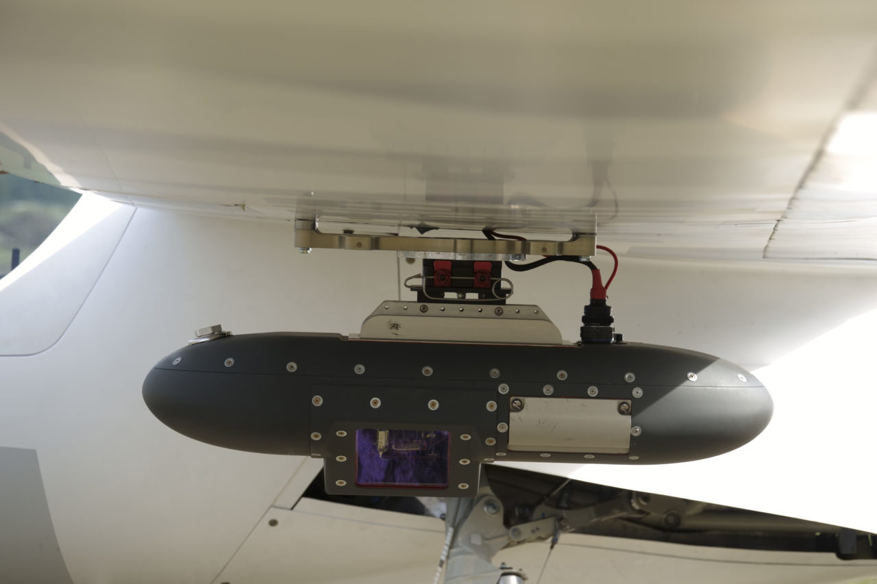 Logos Technologies' Redkite WAMI sensor on a Stemme S15 glider. (Logos)