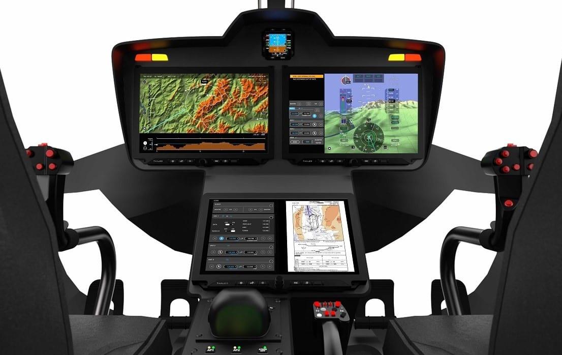 copyright fa thales avionics flytx helicopter 3 displays front white landscape april 2019 light 2