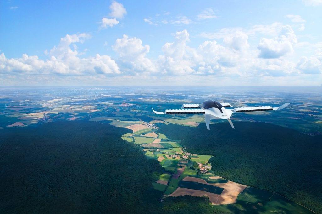 lilium regional air mobility lilium jet flyover render press