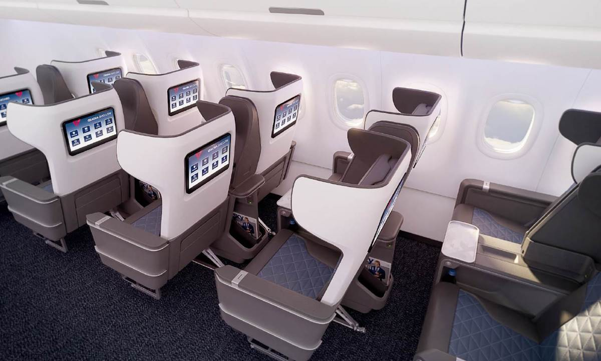 a321neo seats back cabin view